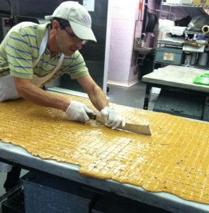 cutting toffee