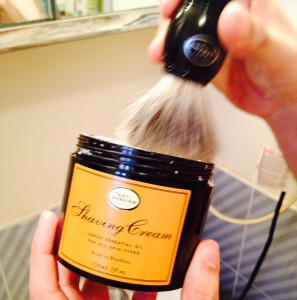 Elements #2 & 3: Shaving Cream applied with a Badger Hair Shaving Brush