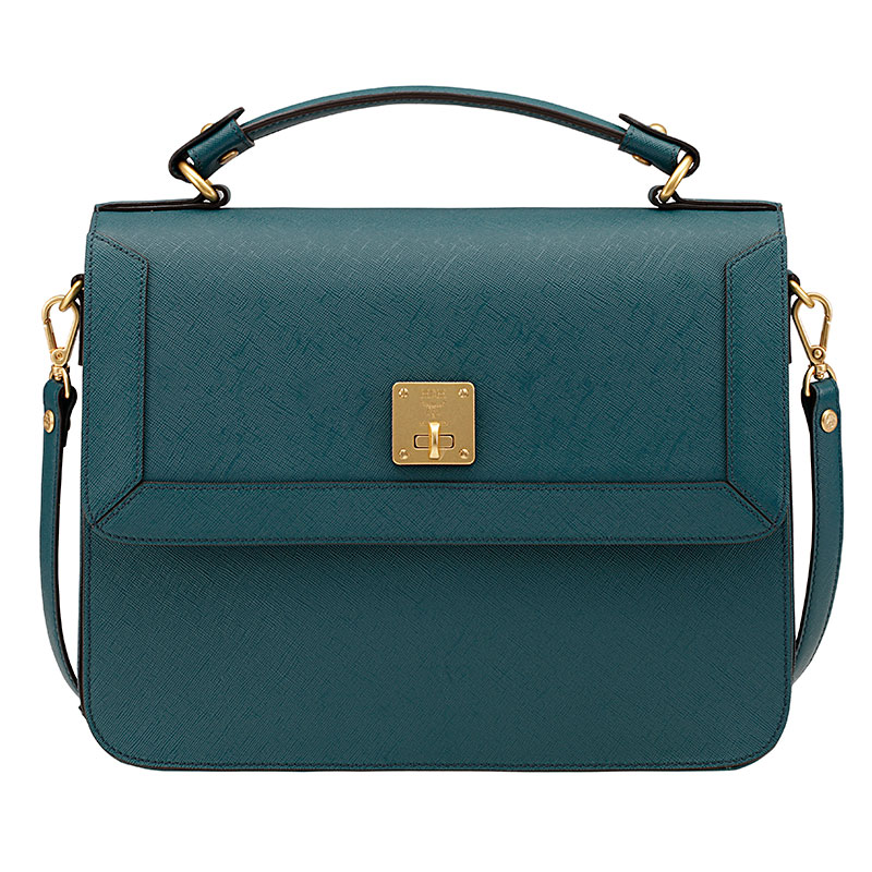 Safiano Leather Satchel (Before $670, Now $469)