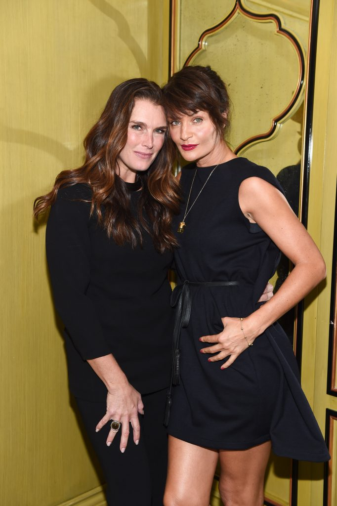 NEW YORK, NY - OCTOBER 06:  Brooke Shields and Helena Christensen attend the VIP Luncheon  Launching the Niche Fragrance Line - strangelove nyc - at BG Restaurant, Bergdorf Goodman on October 6, 2016 in New York City.  (Photo by Dave Kotinsky/Getty Images for strangelove nyc)